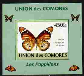 Comoro Islands 2009 Butterflies #4 individual imperf deluxe sheet unmounted mint. Note this item is privately produced and is offered purely on its thematic appeal, it has no postal validity