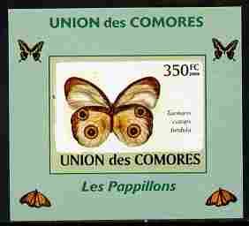 Comoro Islands 2009 Butterflies #6 individual imperf deluxe sheet unmounted mint. Note this item is privately produced and is offered purely on its thematic appeal, it has no postal validity