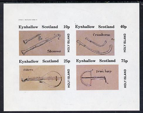 Eynhallow 1982 Early Musical Instruments imperf set of 4 values unmounted mint