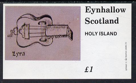 Eynhallow 1982 Early Musical Instruments (Lyre) imperf souvenir sheet (�1 value) unmounted mint