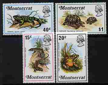 Montserrat 1972 Reptiles perf set of 4 unmounted mint, SG 291-94