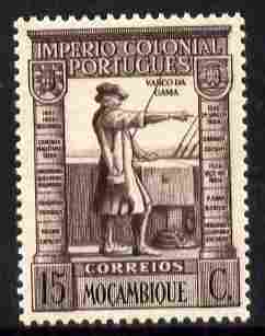 Mozambique 1938 Vasco da Gama 15c brown-purple & black unmounted mint SG354