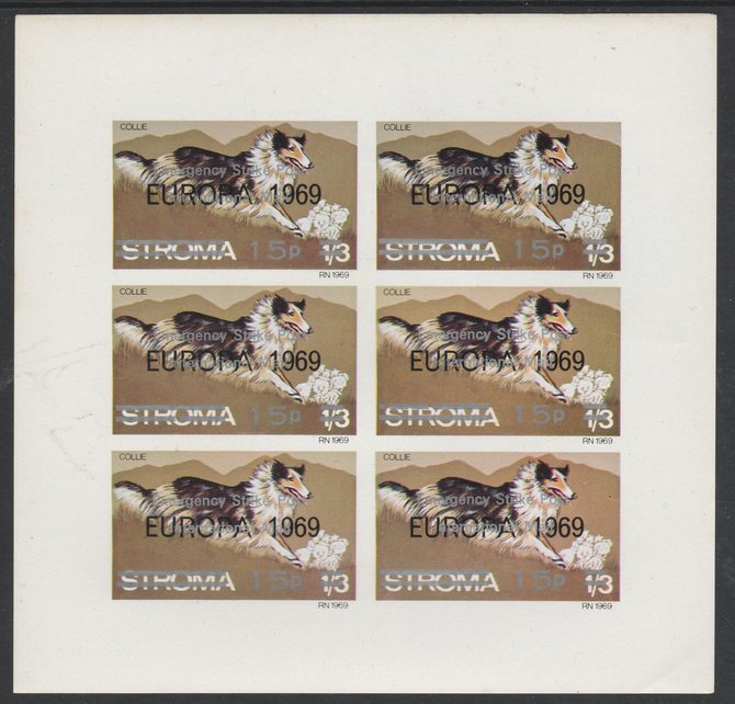 Stroma 1971 Dogs 15p on 1s3d (Collie) overprinted