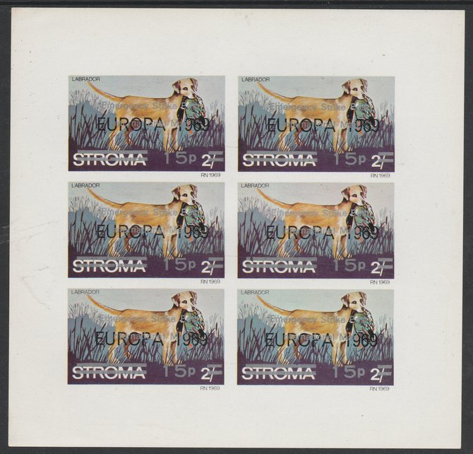 Stroma 1971 Dogs 15p on 2s (Labrador) overprinted