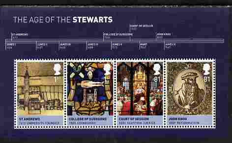 Great Britain 2010 The Age of the Stewarts perf m/sheet unmounted mint