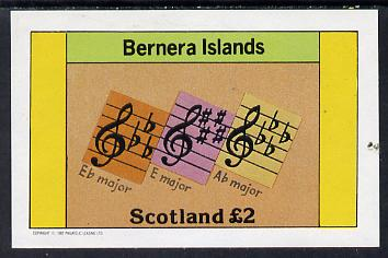 Bernera 1982 Musical Notes imperf deluxe sheet (�2 value) unmounted mint