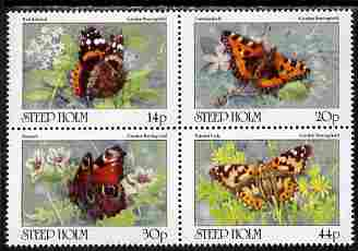 Steep Holm 1981 Butterflies perf set of 4 unmounted mint Rosen SP5-8 (16,000 sets produced)