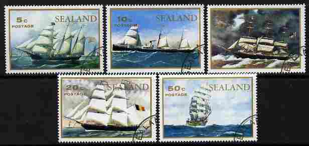 Sealand 1970 Paintings of ships perf set of 5 fine cto used