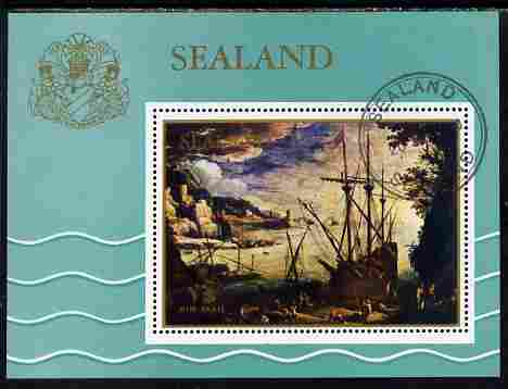 Sealand 1970 Seascapes $1 perf m/sheet fine cto used