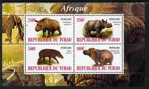 Chad 2010 African Fauna #1 perf sheetlet containing 4 values unmounted mint