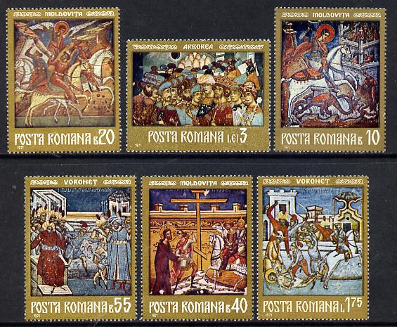 Rumania 1971 Frescoes from Moldavian Monasteries #3 set of 6 unmounted mint, Mi 2992-97, SG 3872-77