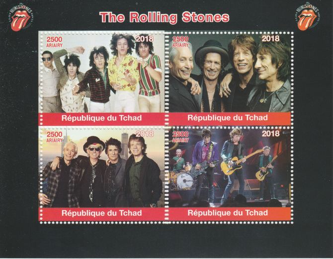 Madagascar 2018 Rolling Stones perf sheetlet containing 4 values unmounted mint. Note this item is privately produced and is offered purely on its thematic appeal.
