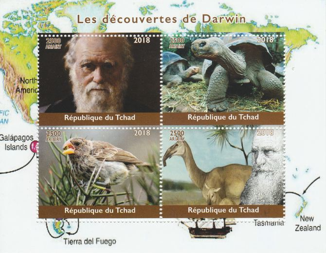 Madagascar 2018 Charles Darwin perf sheetlet containing 4 values unmounted mint. Note this item is privately produced and is offered purely on its thematic appeal.