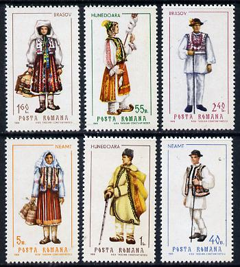Rumania 1969 Provincial Costums #1 set of 6 unmounted mint, SG 3610-15, Mi 2732-37*