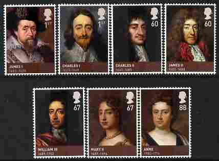 Great Britain 2010 The House of Stuarts perf set of 7 unmounted mint