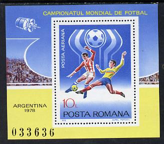 Rumania 1978 Football World Cup m/sheet Mi BL 149