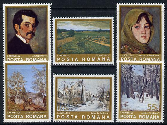 Rumania 1975 Paintings by Andreescu set of 6, Mi 3247-52