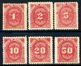 Nicaragua 1899 Postage Due complete set of 6 values unmounted mint SG D137-42