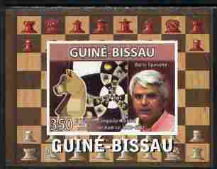 Guinea - Bissau 2008 Chess Champions - Boris Spassky individual imperf deluxe sheetlet unmounted mint. Note this item is privately produced and is offered purely on its thematic appeal