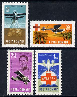 Rumania 1968 Rumanian Aviation set of 4 unmounted mint, SG 3539-42, Mi 2662-65*