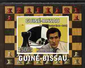 Guinea - Bissau 2008 Chess Champions - Robert Fischer individual imperf deluxe sheetlet unmounted mint. Note this item is privately produced and is offered purely on its thematic appeal