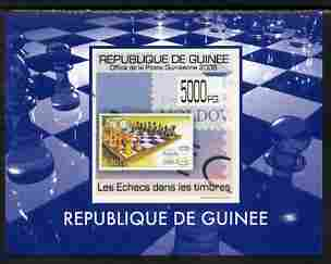 Guinea - Conakry 2009 Chess on Stamps #4 individual imperf deluxe sheetlet unmounted mint. Note this item is privately produced and is offered purely on its thematic appeal