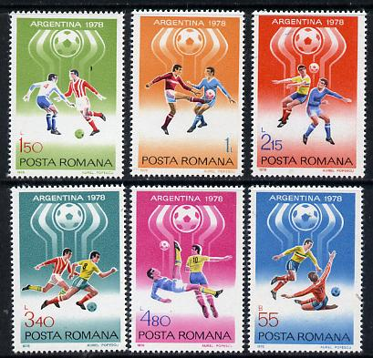 Rumania 1978 Football World Cup set of 6 unmounted mint, Mi 3506-11