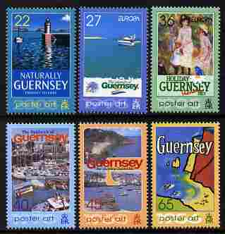 Guernsey 2003 Europa - Poster Art perf set of 6 values unmounted mint SG 991-6