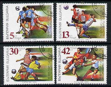 Bulgaria 1990 Football World Cup cto used set of 4, Mi 3825-28