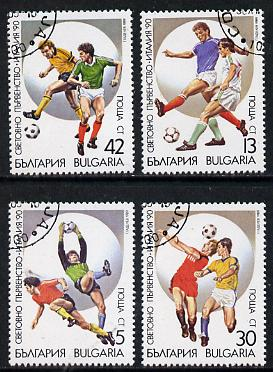 Bulgaria 1989 Football World Cup cto used set of 4, Mi 3795-98