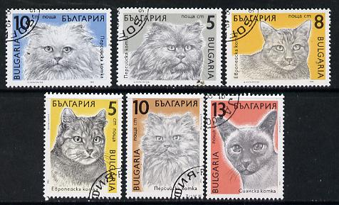 Bulgaria 1989 Cats cto used set of 6, Mi 3808-13*