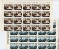San Marino 1959 Romagna Stamp Centenary in complete sheets of 40 unmounted mint, Mi 624-5 c Dm 200
