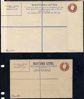 Great Britain 1911c KG5  3d reg envelopes sizes G & H unused and very fine