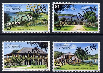 St Vincent - Grenadines 1975 Mustique Island set of 4 opt'd Specimen unmounted mint, as SG 57-60