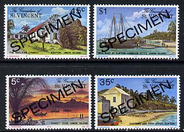 St Vincent - Grenadines 1976 Union Island #1 set of 4 opt'd Specimen unmounted mint, as SG 74-77