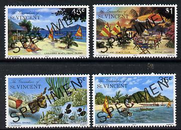 St Vincent - Grenadines 1977 Prune Island set of 4 opt'd Specimen unmounted mint, as SG 100-103