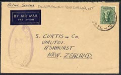 Australia 1944 Active Service cover  with RAAF Censor cachet