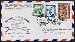 Austria 1946 First Clipper Flight cover (illustrated with Route cachet) from Vienna to London