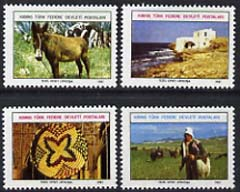 Cyprus - Turkish Cypriot Posts 1981 perf set of 4 unissued undenominated pictorial essays #2 designed by H Ulucam and printed by Tezel Offset on unwatermarked paper unmou...