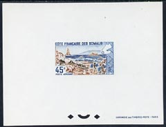 French Somali Coast 1965 Lake Abbe 45f Epreuves de luxe sheet in issued colours unmounted mint, as SG 486