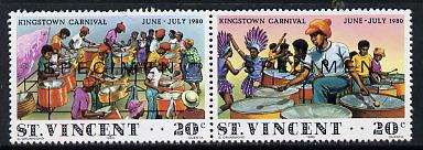 St Vincent 1980 Kingston Carnival se-tenant pair opt'd Specimen unmounted mint, as SG 638a