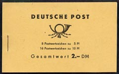 Booklet - Germany - East 1962 Ulbricht 2M booklet complete and fine, SG ESB4