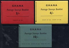 Booklet - Ghana 1961 3s, 6s & 10s booklets complete and very fine, SG SB2, 3, & 4