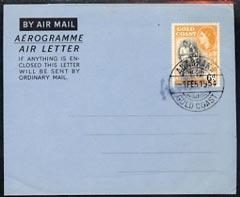 Aerogramme - Gold Coast 1954 6d Aerogramme unaddressed but cancelled ADABBAKA