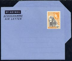 Aerogramme - Gold Coast 1954c QEII 6d air letter form unused
