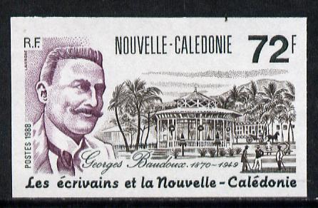 New Caledonia 1988 Georges Baudoux (Writer) 72f (Postage) imperf from limited printing, as SG 848*