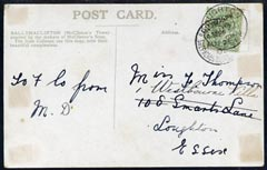 Great Britain 1908 KE7 PPC (Franco-British Exhibition) used bearing KE7 1/2d with fine exhibition cancel