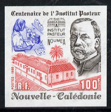 New Caledonia 1988 100f Pasteur Institute imperf from limited printing, as SG 847*