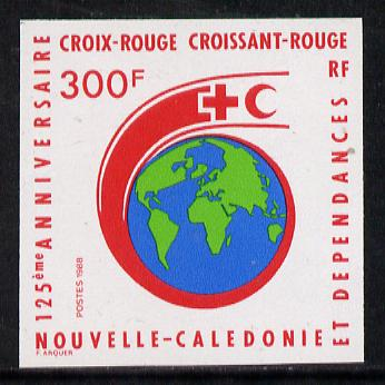 New Caledonia 1988 300f Red Cross 125th Anniversary imperf from limited printing, as SG 829*