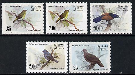 Sri Lanka 1983 Birds - 2nd series set of 5 unmounted mint, SG  827-30*